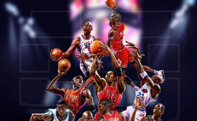 NBA, basketball, sports, players, art