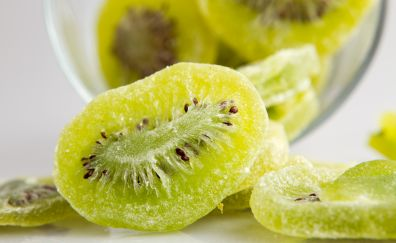 Kiwifruit slices, green fruits, fruits