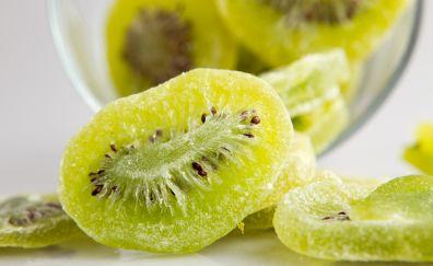 Kiwifruit slices, green fruits, fruits
