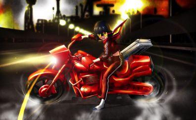 Bike Riding, anime, Ryūko Matoi, anime girl