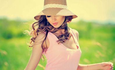 Summer, outdoor, girl model