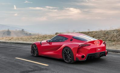 Toyota FT 1 Concept red supercar