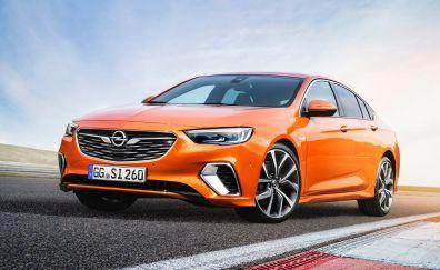 Opel Insignia, orange car, 4k