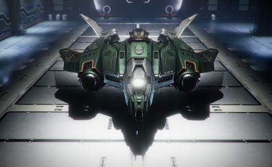 Spaceship, star citizen, 4k, video game