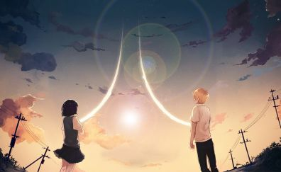 Hanabi Yasuraoka, Mugi Awaya, Kuzu no Honkai, anime, outdoor