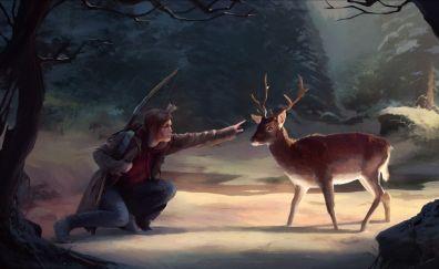 The last of us, video game, deer