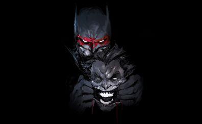 Batman, joker, dc comics, artwork