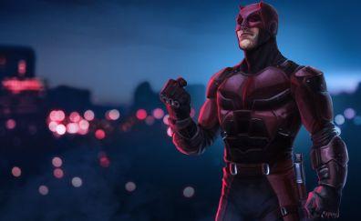 Daredevil, superhero, marvel comics, artwork