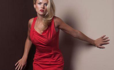 Beautiful, Erin Richards, red dress