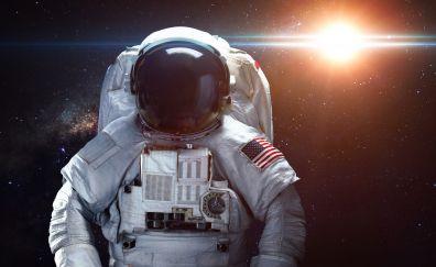 Astronaut, space, stars