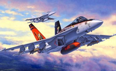 Boeing F/A-18E/F Super Hornet, fighter aircraft, military