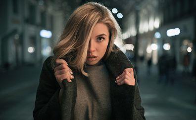 Photo shoot at night, girl, model