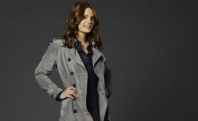 Stana Katic, brunette, actress, smile