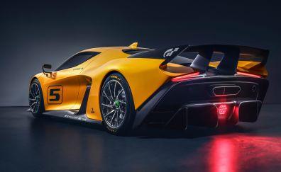 Fittipaldi EF7 Vision Gran Turismo, 2017 car, sports car, rear view