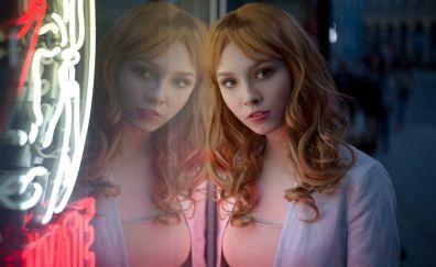Alice Tarasenko, girl model, reflections