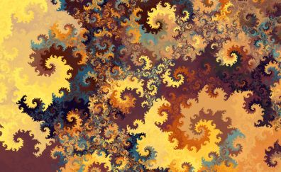 Swirl, fractal, abstract, pattern