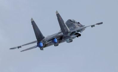 Military, aircraft, jet airplane, sukhoi su-30