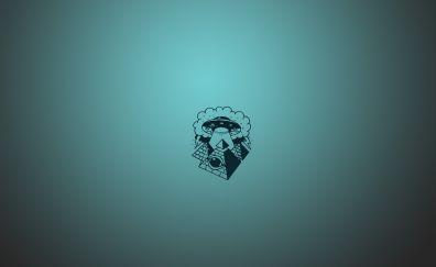 UFO minimal artwork