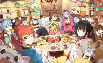Girl cafe gun, anime girls, fun