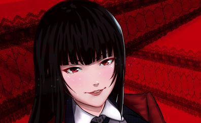 Jabami Yumeko, anime girl, smile, face
