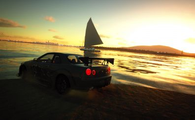 The Crew, Online game, car, ship, sunset