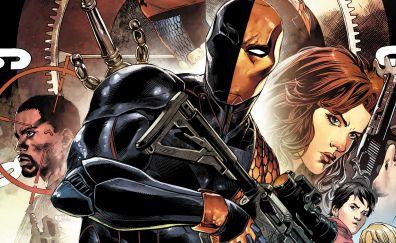 marvel comics, villain, gun, deathstroke