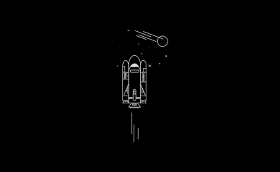 Minimal, spaceship, art