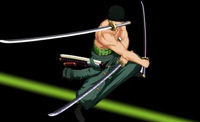 Roronoa Zoro, katana, anime boy