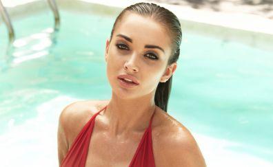 Amy Jackson, hot model, wet body, photoshoot, 4k
