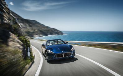 2018 Maserati GranTurismo, on road, motion blur