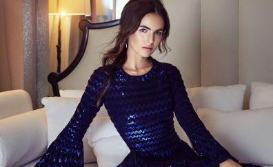 Camilla belle, blue dress, beautiful, 2017