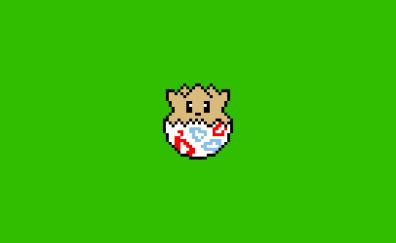 Pokemon, togepi, pixel artwork