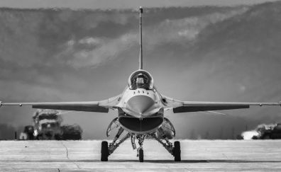 The General Dynamics F-16 Fighting Falcon, fighter plane