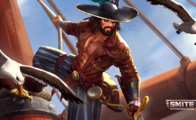 Susano, Smite online game, pirate, hat