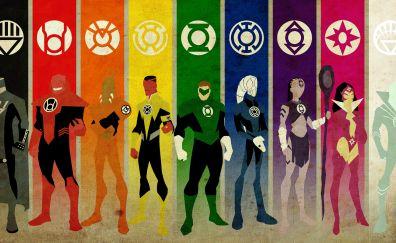 Emotional spectrum of superheroes
