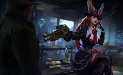 Caitlyn, League of legends, online game, gun