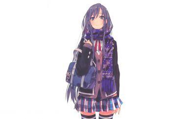 Yukino yukinoshita, short skirt, cute anime