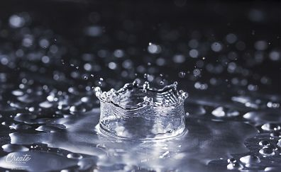 Water drops close up view
