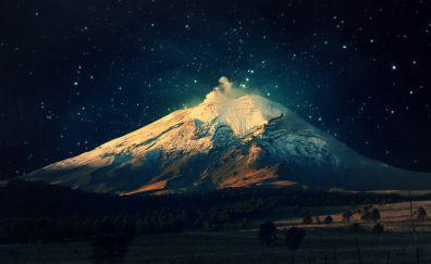 Mount fuji in night