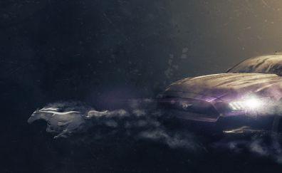 Mustang car artwork