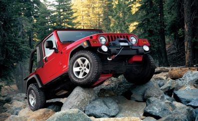 Jeep Red Car