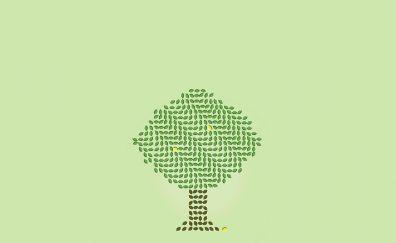 Lemon plant optical illusion