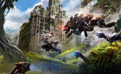 Horizon zero dawn video game, liverpool, 4k