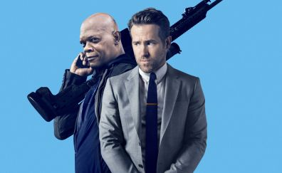 The Hitman's Bodyguard, 2017 movie, Ryan Reynolds, Samuel L. Jackson, poster
