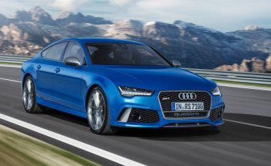 2017 Audi RS 7 blue car