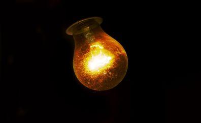 Tungsten light bulb, dark