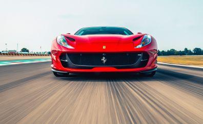 Ferrari 812 Superfast, red car, motion blur, front view