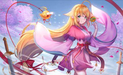 Tushan Susu, Fox Spirit Matchmaker, beautiful anime girl, blonde, 4k