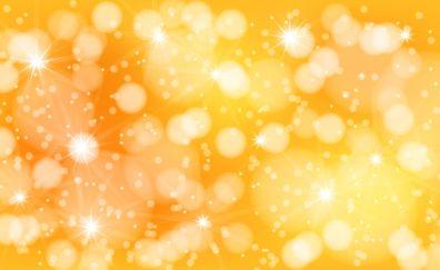 Glitter, bokeh, yellow background, abstract, 5k
