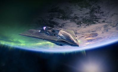 Destiny 2, spaceship, video game, 4k
